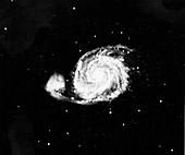 Spiral galaxy (M 51) in Canes Venatici, 1910