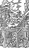 Crushing gold bearing ores in mills