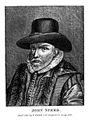 John Speed, English cartographer and historian, 1816