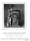 Model of a Newcomen steam engine, 1856