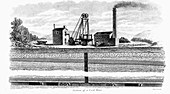 Section of a Coal Mine', 1860