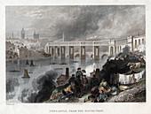 High Level Bridge over the Tyne at Newcastle, 1849