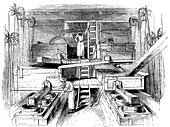 Scene in a Staffordshire pottery factory, c1851
