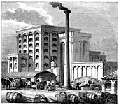 Sugar refinery, Southampton, England, which opened in 1851