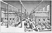 Women workers in a carpet factory, c1895