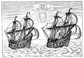 Ships of Willem Barents' expedition to the Arctic, 1596