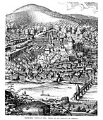 Heidelberg Castle and town, Germany, in 1620