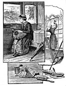 Girl on her way to starting work in domestic service, 1884
