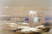 Sandstone Temple of Edfu, dedicated to Horus, Egypt
