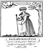 Elizabeth Sawyer, executed as a witch in England in 1621