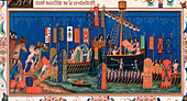 Crusaders embarking for the Holy Land, 15th century