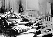 Survivors of the atom bomb, Hiroshima, Japan