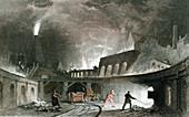 Bank of furnaces, Lymington Iron Works, Tyneside, England