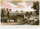 Rolle Canal and Aqueduct, near Torrington, Devon, 1829