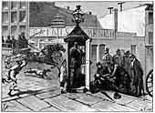 Chicago police telephone box, 1886