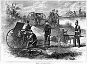 Montigny mitrailleuse, rapid fire gun, 1870