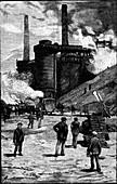 Blast furnaces, South Wales, 1885
