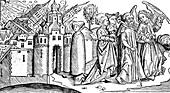 Destruction of Sodom and Gomorrah by earthquake, 1493