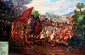 Retreat of Hernando Cortes form Tenochtitlan, Mexico, 1520