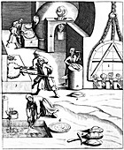 Refining copper using the 'Hungarian' process, 1683
