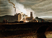 Industrial landscape, Wales, 19th century