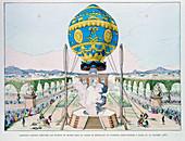 Ascent in captive hot air balloon, Paris