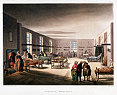 Womens' ward in the Middlesex Hospital, London, 1808-1811