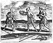 Roman soldiers: stone slingers and their equipment, 1605