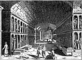 Catacomb of the Capuchin convent, Palermo, Sicily, 1833