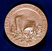 Medal commemorating physicist Johannes Diderik van der Waals