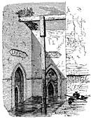Nilometer on the island of Roda, Cairo, Egypt, c1895