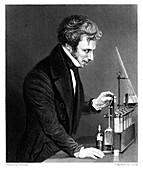 Michael Faraday, British chemist and physicist, c1845
