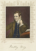 Humphry Davy, British chemist and inventor, 1801