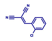 CS tear gas molecule