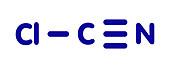 Cyanogen chloride toxic gas molecule
