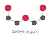 Diethylene glycol chemical solvent molecule
