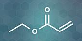 Ethyl acrylate molecule