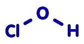Hypochlorous acid disinfectant molecule