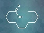 Lauric acid molecule