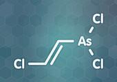 Lewisite chemical weapon molecule