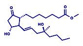 Misoprostol abortion inducing drug molecule