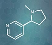Nicotine tobacco stimulant molecule