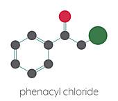 CN tear gas molecule