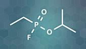 Sarin nerve agent molecule
