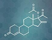 Segesterone acetate drug molecule