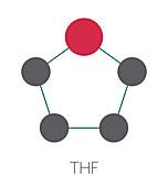 Tetrahydrofuran solvent molecule