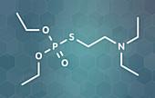 VG nerve agent molecule