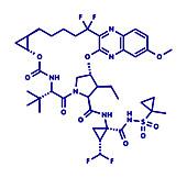 Voxilaprevir hepatitis C drug molecule