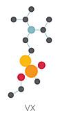 VX nerve agent molecule