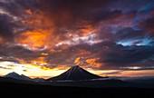 Sunrise over Krestovsky volcano, Kamchatka, Russia